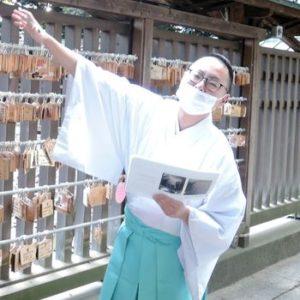 久伊豆神社の神職さん